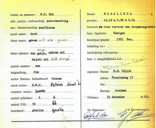 CuracaoRosalindaRegistration1963